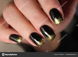 Black Nail Designs 2018 Black And Gold Nail Designs 2018 Evening Manicure Design