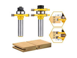 tongue and groove set drillpro 2pcs router bit set 1 2 inch shank