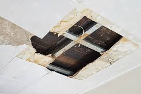 ceiling water damage from a leak