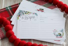 Christmas Recipe Card Printable Recipe Cards For Christmas Free Holiday Download