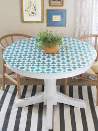 how to paint a mosaic table top