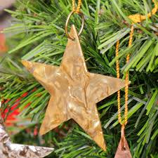S/Three Heart Or Star Metal Christmas Tree Decorations