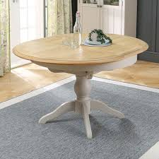 sworth grey painted round extending dining table 4 to 6 seater the furniture market