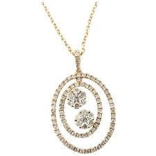 vintage 14 karat rose gold and diamond pendant necklace gold and silver brokers ruby lane