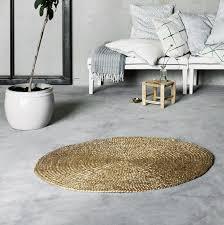 natural hemp jute round rugs