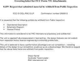 Pac D Lp Low Range Proximity Reader Cover Letter Covering