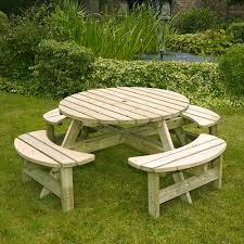 devon round picnic bench
