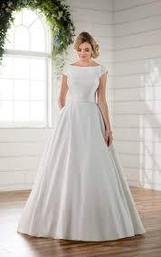 modest wedding dress with sleeves essense of australia