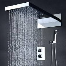 waterfall shower heads shower set with rainfall waterfall shower head waterfall shower heads australia