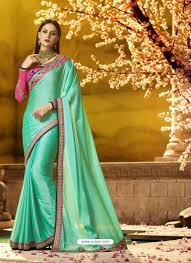 Jade Designer Sarees Jade Green Embroidered Designer Silk Saree In 2019