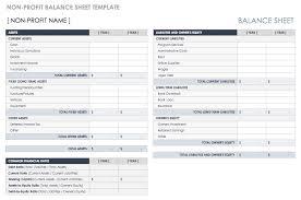 Financial Balance Sheet Template Free Balance Sheet Templates Smartsheet