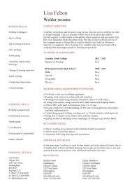 welding welder resumes student entry level welder resume template