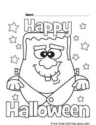Small Picture Halloween Happy Monster coloring pages for kidsFree Printable