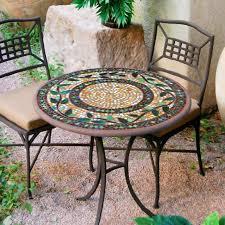 gorgeous iron bistro table set knf garden designs 30 iron mosaic bistro set for 2 30set2