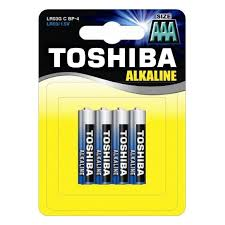 <b>Батарейка AAA Toshiba</b> LR03/4BL Alkaline, 4 шт, в блистере ...