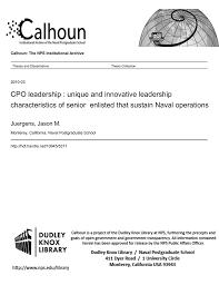 Cpo Leadership Unique And Innovative Leadership Manualzz Com