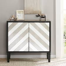 egan chevron mirrored accent chest  reviews  joss  main