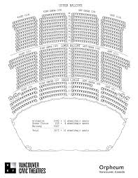 42 Complete The Orpheum Theatre Seating Chart