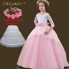 <b>Winter Lace</b> Hollow Tail Kids <b>Dresses</b> for <b>Girls</b> Princess Floral ...