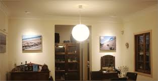 dining room has a pendant style light fitting that creates diffuse light in the centre