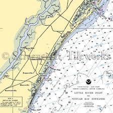 South Carolina Pawleys Island Nautical Chart Decor