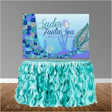 Design Mermaid Mermaid Under The Sea Themed 6x4 Candy Buffet Table Banner