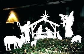 outdoor white nativity scene house 2016 manger commercial grade scenes decor nativity scene white silhouette outdoor
