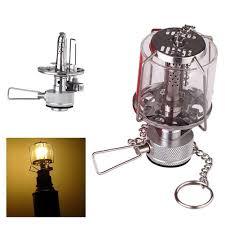 Mini Camping Lantern Gas Light Portable Tent Glass Lamp Butane 80lux