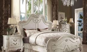 Details about Bone White Queen Bedroom Set 3 Pcs Versailles 21760Q Acme Vintage Classic
