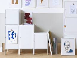 small office storage. The IKEA HÄLLAN Cabinet In Timeless Metal Can Be Built To Suit Both Small And Large Office Storage