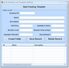 inventory software in excel excel inventory list template software 7 0 download