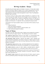 types of essay types of argumentative essays example academic  example academic essay template example academic essay