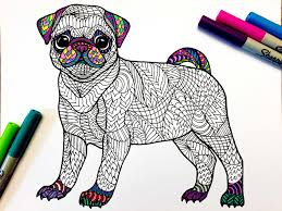 Cute Pug Coloring Pages At Getcolorings Com Free Printable Puppy