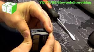 tutorial change the battery in your garage door opener how to