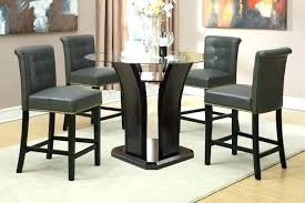 triangular dining set glass top counter height table awesome image