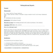 Memo Report Example Types Of Report Formal Informal 4 Template Example English