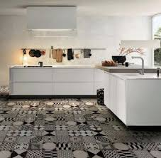 Beautiful Tiles For Kitchen Contemporary Kitchen With White Cabinets And Patchwork Tiles