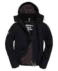 Superdry Windcheater Size Chart Superdry Mens Pop Zip Hooded Arctic Sd Windcheater Black Rock