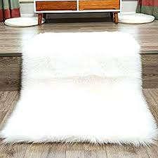 grand rug faux fur rug white soft fluffy cm gy rugs intended for sheepskin idea grand rug
