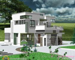 1930 sq ft modern flat roof house kerala home design and floor plans navy officer office beautiful interior office kerala home design