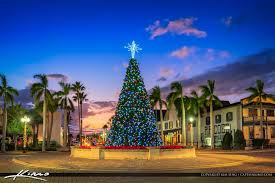 Christmas Tree 2016 Fort Pierce Florida Sunset