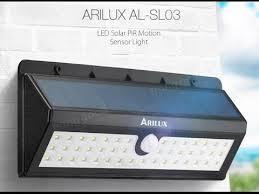 solar powered 44 led pir motion sensor light outdoor waterproof ip65 wall lamp arilux al sl03