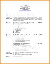 8 Medical Resume Objective New Hope Stream Wood