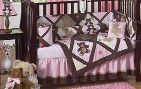 teddy bear crib sheet pink and chocolate teddy bear baby girls bedding 9pc crib set only