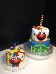 Elmo 1st Birthday Cake Smash Cake Calandras Custom Cakes Studio