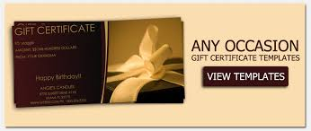 gift card template gift certificate templates to make your own certificates