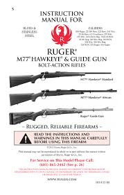 Ruger M77 Scope Ring Chart Instruction Manual For Manualzz Com
