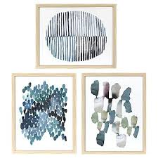 blue and white wall art target