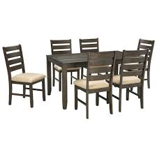 Signature Design by Ashley Rokane Contemporary 7Piece Dining Room Table Set