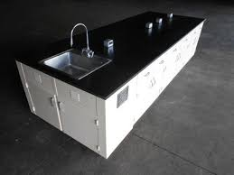 detalles acerca de used lab cabinets lab benches lab island with sink 12 feet by 54 inches